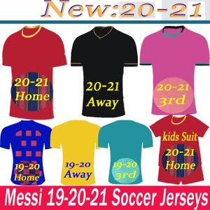 19 20 21 MESSI GRIEZMANN Kids kit Soccer Jerseys RAKITIC SUAREZ PIQUE DE JONG DEMBELE F. DE JONG RAFINHA Home Away Football Shirt
