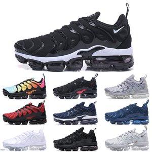 2020 TN Plus Mens Running Shoes Triple Black White Hyper Blue Voltage Purple Rainbow FLY KNIT Men Women Run Utility Sports Trainers ch