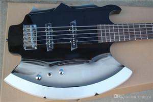 5 Strings Ax E-Bass mit Unterschrift, Palisander Griffbrett, No Inay, Chrome Hardwares, bietet maßgeschneiderte Dienstleistungen
