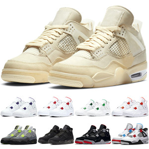 Nike Air Jordan 4 Retro 2019 gezüchtet 4 4s Männer Basketball-Schuhe Tattoo Singles Day Raptors Pure Money Abgabe Hot Punch Mens Designer Trainer Sport Sneaker Größe 41-47