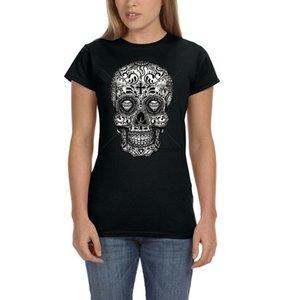 Day Of The Dead Painted Sugar Skull Cross Diamond Dia Muertos Womens T-Shirt Tee