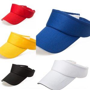 tepeli üst güneş sivri spor tenis kap güneşlik kap no-Top Hat güneş şapkası baskı boşalıma Yetişkin pamuk