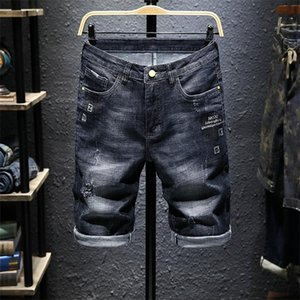 Men High NEW Fashion Holes Jeans Slim Fit Male Demin Pants mens baggy jeans short Hip Hop Destroyed true religions givency Jeans short