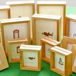 1шт Simple Solid Wood Photo Frame Творческое 16 дюймов Desktop Photo Frame 6 дюймов 24 дюймов Домашнее украшение