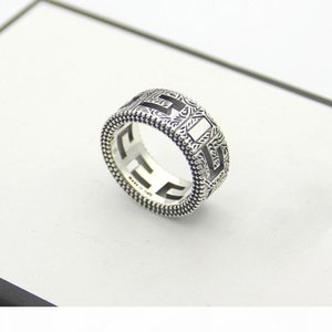 Sterlingsilber-Ring Männer Hohle Weit S925silver Ring Weinlese-Partei 3D-Ringe