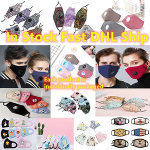 Best Quality In Stock Fast Ship Kids Adult Masks With Breathing valve Protective PM2.5 Designer Face Masks Washable fashion Dustproof Masks