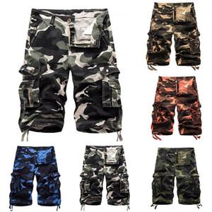 Hommes d'été Casual Camouflage Outdoor Cargo Shorts Baggy Cinquième Pantalons Pantalons Pantalons Pantalons Mode Hommes Vêtements