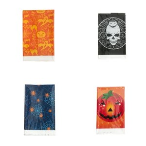 Halloween Stil Tablolar Kumaş, tek kullanımlık plastik Tablo Kafatası kabak Desen Örtüsü Sıcak Satış 2 5HY L1 Oyun Taraf Kapaklar