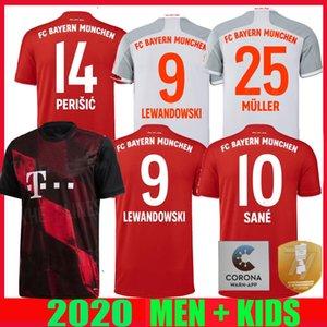 20 21 Bayern Münih futbol Jersey Sané ev uzakta 77 Alman Kupası finali LEWANDOWSKI 2020 2021 üçüncü Muller erkekler çocuklar formalarını üniforma