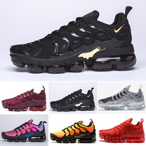 HOT sale TN PLUS Running Shoes For Men Women Black Speed Red White Anthracite Ultra White Black 2019 Best Designers Sneakers GS7DL