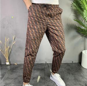 2020 hombres de diseño de alta calidad sueltos de cintura alta celebridad tela elástica pierna ancha de los pantalones de lujo de los hombres pantalones casuales de la moda