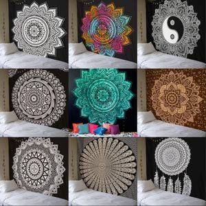 Mandala Square Tapestry Wall Hanging Bohemia Style Yoga Mat Sunscreen Beach Towel Home Decor Many Styles 25tf C R
