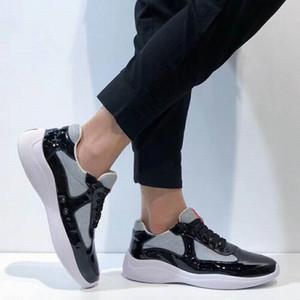 2020Italian New Mens Red Shoes Comfort Casual British Designer Chaussures Homme loisirs Brillant en cuir verni avec des chaussures maille respirante Zapatos