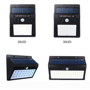 Açık Garden için Güneş dış duvar lambası 20 30 48 LED Su geçirmez IP65 Güneş PIR Hareket Sensörü Işık ayarlanabilir Işık Yolu Acil Işık