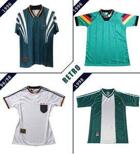 Alemania retro 1980 1996 1998 jerseys del fútbol KLOSE MULLER PODOLSKI KLINSMANN MATTHAUS casa camiseta de fútbol de distancia de la vendimia