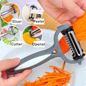 Multifunctional 360 Degree Rotary Peeler Carrot Potato Orange Opener Vegetable Fruit Slicer Cutter Kitchen Accessories Tools DBC BH3868