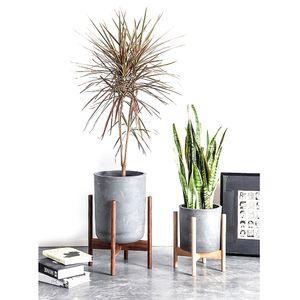 2019 New Cross Beech Wood Flower Pot Planter Rack Stand Holder Pot Bracket Solid Wood Bracket Y200709