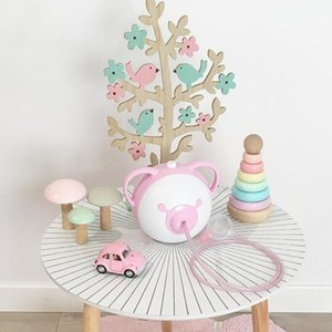 Wooden Tree Shaped Tabletop Ornament Jewelry Display Rack Necklace Organizer Decorative Wood Crafts rustic home decor T200703