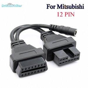 2019 للحصول على أفضل ميتسوبيشي 12PIN ODB2 الكابل الموصل ل16 دبوس OBD II التشخيص الكابلات لشركة ميتسوبيشي 12 دبوس OBD محول JtxG #