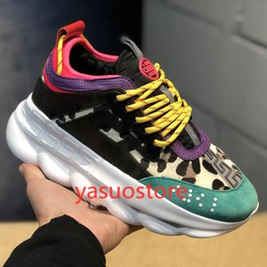 hococal New color chain reflects luxury designer shoes for men and women sneakers runner snow leopard black white suede leather fashion