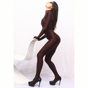 Cosplay Shiny Full Body Bodysuit Pantyhose Sexy Tights Shaping Dance Wear Plus Size Jumpsuit Women One-piece Tights Rompers