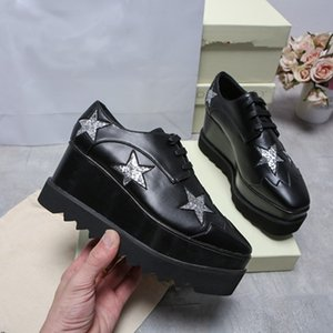 2020 핫 세일! 신발 최고 품질 진짜 가죽 여성 패션 플랫폼 웨지 플랫폼 옥스포드 운동화 rc11