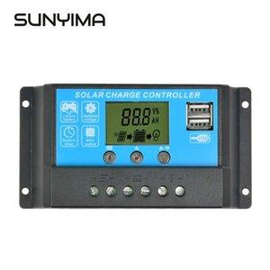 Günstige Zubehör SUNYIMA 12V24V 15A LCD-Solar-Laderegler Dual USB Sonnenkollektoren Ladegerät Regler-Steuerpult Schalt
