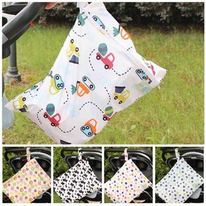 New Baby Newborn Zipper Diaper Storage Print Bags Portable Outdoors Waterproof