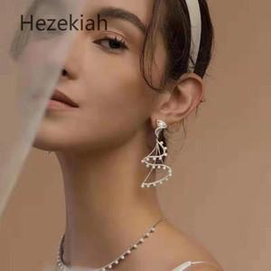 Hizkiya S925 gümüş iğne Küpe Gelin gelinlik Küpe Mizaç ve moda İnci Küpe Ünlüler