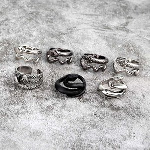 1PC New Punk Vintage Snake Free Ring For Women Men Gothic Rock Hip Hop Black Metal Color Animals Open Finger Ring Jewelry R148