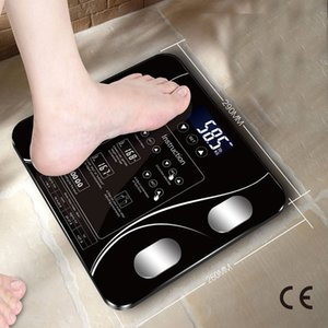 2020 CE Certification USB charging Sakura Smart Household Weighing Scale Fat Scale LED Digital English Function Screen USB charging