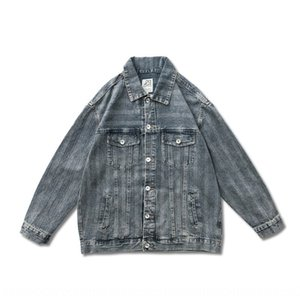FORN3 20 autumn jacket American casual basic loose campus neutral men's and women's denim jacket