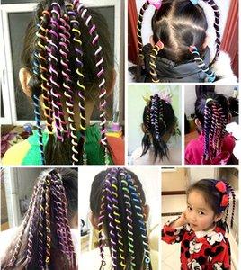 6PCS Lot Cute Girls Colorful Crystal Headbands Long Hair Bands Headwear Children Hair Ornament Hairbands Kids Hair Accessories GD395
