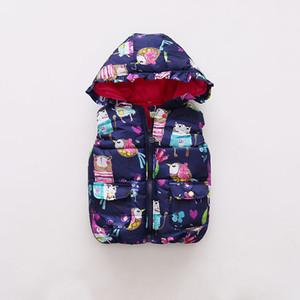 Grils 자켓 BOTEZAI 아동 의류 OuterwearCoats 가을 신상품 여자 아기 옷 Sleevele 동물 낙서 인쇄