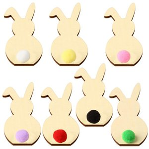 Easter Ornaments Easter Rabbit Crafts Bunny Handcraft DIY Room Decorative Arts Kids Cartoon Gift Home Decoration Party Supplies DW5055