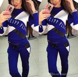 2018 Hot! Women Sport Suits Printed Fall Tracksuits Long-sleeve Casual Sportwear Costumes 2 Piece clothing set Hoodies Sweatshirt