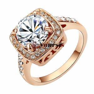 Signora Bellissima la Luce Blu Austria Cristallo 18K Oro Bianco Placcato shinning 2.5 ct emulational è Diamante Anello della moda Spedizione Gratuita R123W4