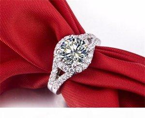 Ювелирные изделия F бриллиантовое кольцо моды кольцо Have S925 Stamp Real 925 Sterling Silver Ring Set 2 Карат Cz Алмазные обручальные кольца для женщин 510