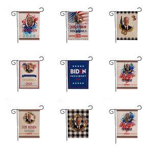 Biden Garden Flag Digital Printing Biden Flag Hanging Neue Kampagne Werbung Biden Flag 12 Styles 47 * 32CM Festliche Party Supplies DWC530