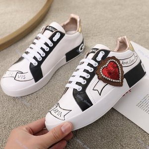 xshfbcl limited Top quality luxe Mens leather casual shoes Platforms Print pattern couple shoes fashion personality wild sports shoes