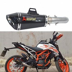 De escape de la motocicleta Sistema Completo Para RC390 DUKE DUKE 390 125 2016-2018 RC 390 con escape con db killer zDvg #
