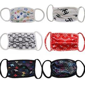 Designer Gesichtsmaske Fashion Gesichtsmasken waschbar atmungs Luxus-Designer-Maske trendy Druck wiederverwendbare winddicht Anti-Staub-Masken cycling