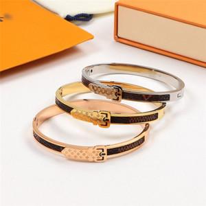 Patrón del Cinturón unisex brazaletes 3 colores de la personalidad del encanto de la calle Hombres Mujeres pulsera al aire libre del estilo de los brazaletes de los pares