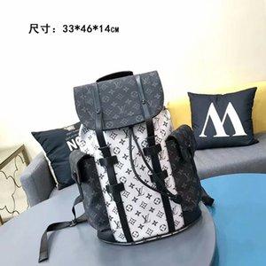 2020 MEN fashion L letter Backpack Mens Backpack Hot Handbag Travel bag Male School Bags Leather Casual sports Shoulder Bag Computer Bag