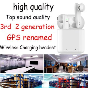 Bluetooth Headphones 3 Gen Tws Wireless charging Earphones with smart sensor window pk pods pro H1 1536 chip headset AP3 i12 i7S i500 i200