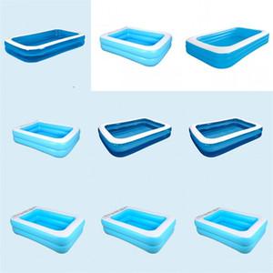 Piscinas exteriores portátil Ducha inflable de la nadada piscina por encima del suelo Pond Adultos familiar al aire libre Babys inflados Accesorios 145jl C2