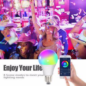 Smart Wifi LED light Bulbs 10W RGBW Dimmable LEDs lamp E27 B22 Voice Amazon Alexa, Google Assistant control Change Color Lights