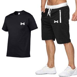 designer tshirts Tracksuit men's M-2XL summer hot sale men's suit T-shirt + shorts two-piece set casual designer pour hommes sportswear
