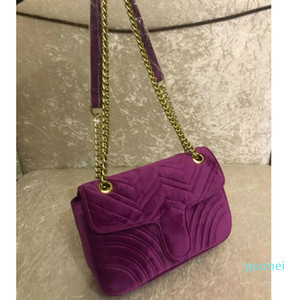 Alta calidad Marmont terciopelo bolsos de los bolsos de las mujeres del bolso de hombro Sylvie bolsos monederos cadena de la manera bolso crossbody