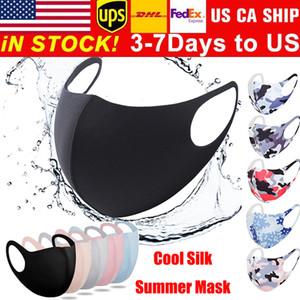 Riutilizzabile Maschera anti-polvere maschere lavabili bocca nera Estate maschera Mascarillas fredda seta respirazione Masque bambini maschera facciale maschere